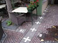 Granica u bašti restorana