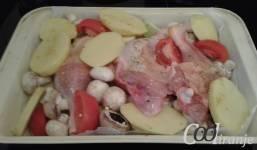 Zapečeno povrće sa batacima priprema