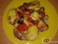 Zapečeno povrće sa batacima