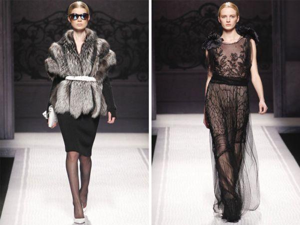 Koktel crne haljine, čipka, koža i bunde odlikuju novu kolekciju za
