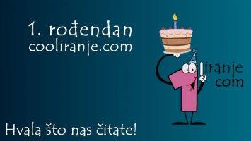 1. rođendan cooliranje.com - Hvala što nas čitate!