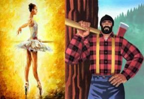 Balerina i drvoseča