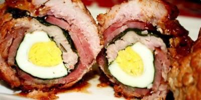 Rolovana teletina sa slaninom i jajima