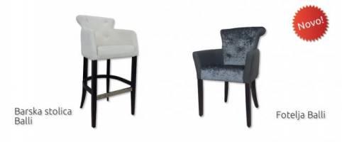 Novi proizvodi - Barska stolica Balli i fotelja Balli