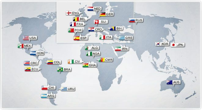 Raspored i rezultati utakmica - Mundijal 2014