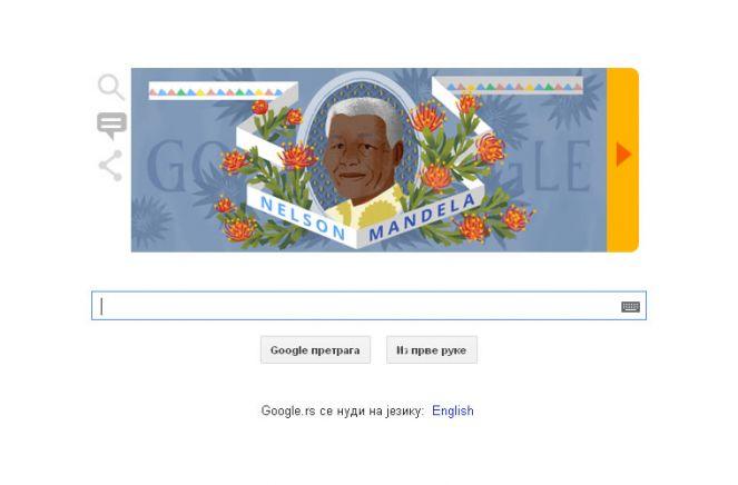 Нелсон Мандела - Google obeležava dan kada je rođen Nelson Mandela