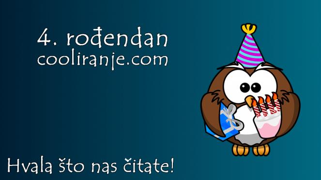 4. rođendan cooliranje.com - Hvala što nas čitate!